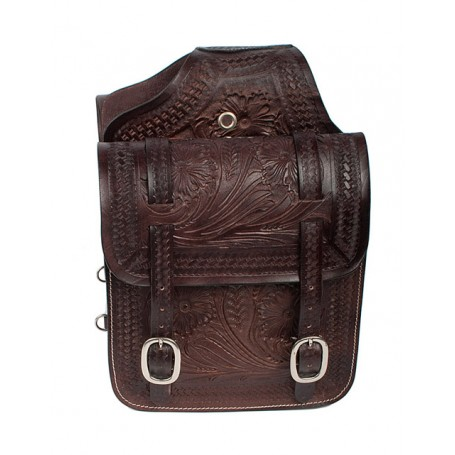 Extra Large Brown Western Leather Horse Saddle Bags