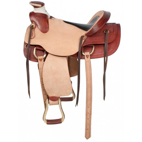Premium Comfortable Ranch Work Horse Saddle 16 17