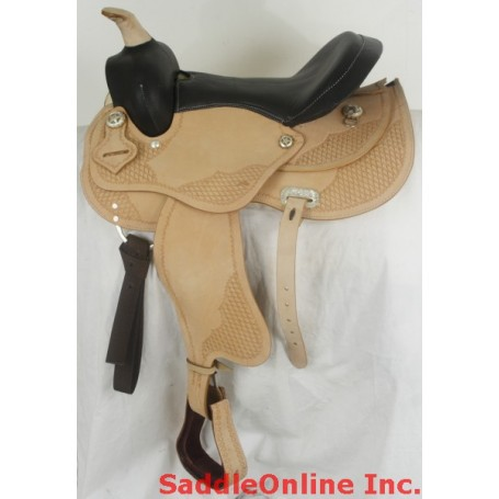 Slick Seat 15 Tan Western Horse Pleasure Saddle