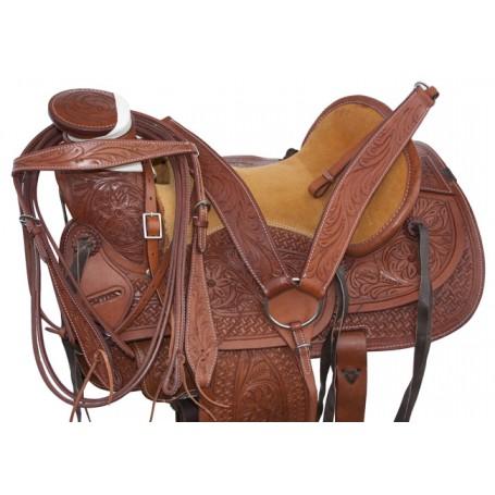 Wade A Fork Ranch Roping Cowboy Western Horse Saddle 18