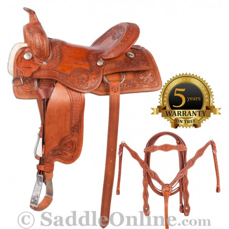 New Pro Cutter Work Ranch Pleasure Saddle 16 18