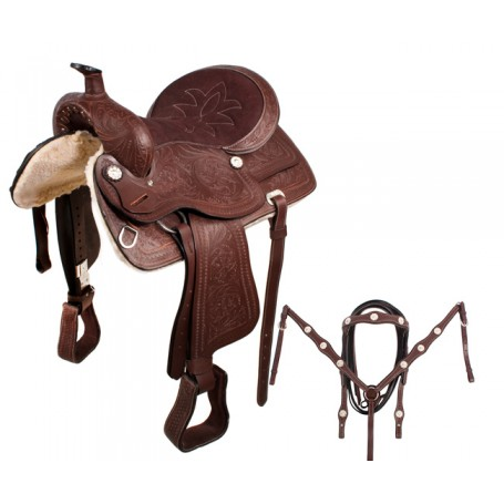 NEW Lightweight Pleasure Trail Western Saddle 18