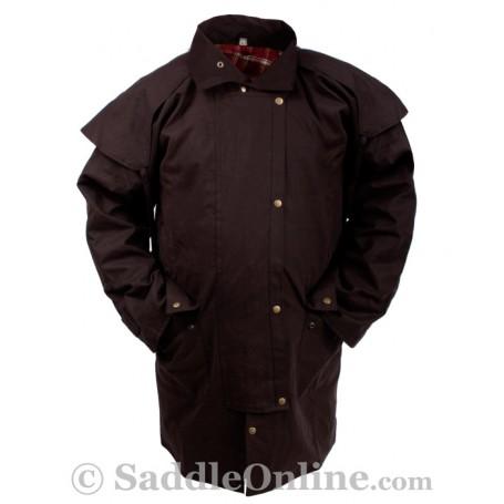New Men Womens Oilskin Duster Coat S
