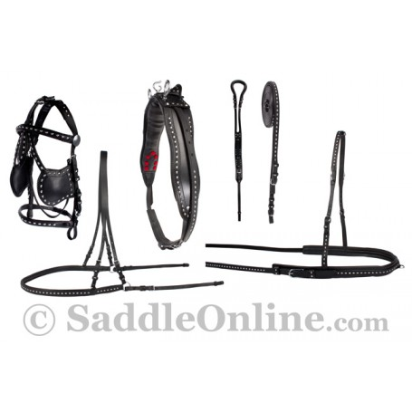 New Studded Parade Leather Horse Driving Harness Sale