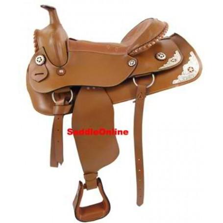 Brand new 16 17 18  western TEXAS  show saddle