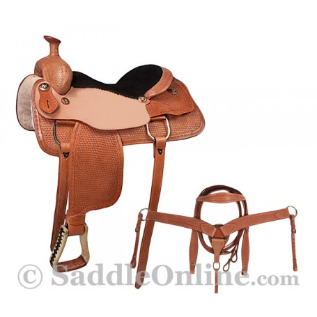 Western Trail Ranch Work Horse Leather Saddle Tack 17
