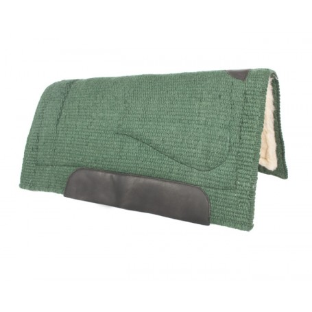 Green Heavy Duty Wool Western Horse Saddle Felt Pad