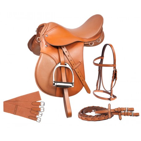 New Tan All Purpose AP English Riding Saddle 16 18