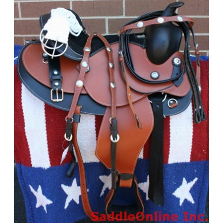 NEW  WESTERN LEATHER TRAIL PLEASURE SHOW SADDLE