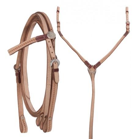 Western Headstall Reins Breast Collar Horse Tack Set