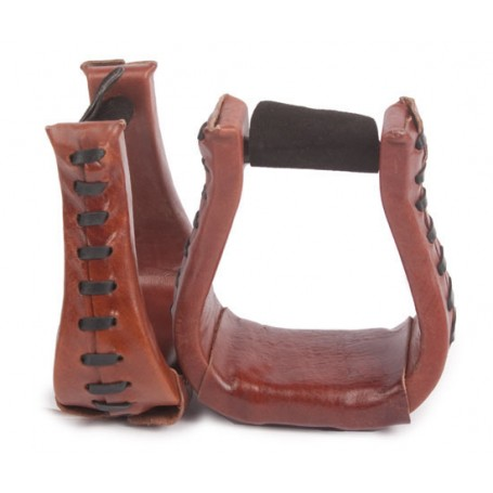 Durable Western Leather Horse Saddle Stirrups