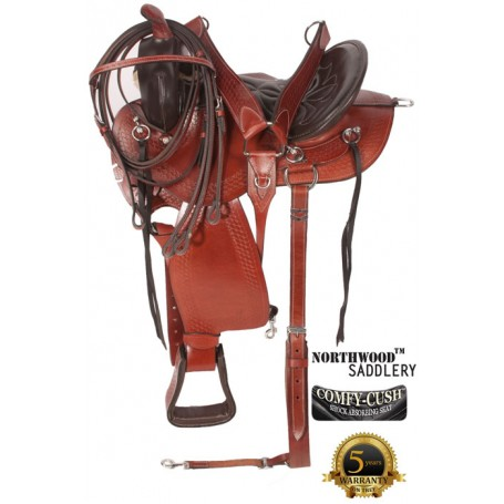 Amazingly Comfortable Mahogany Trail Endurance Saddle 17