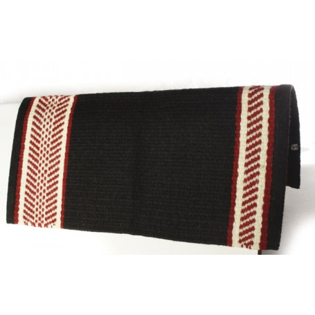 New Zealand Wool Black Red And White Show Blanket