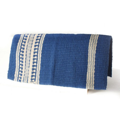 Premium Wool Blue And White Show Blanket
