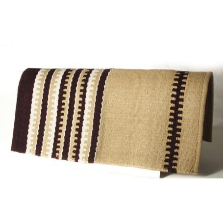 Premium Beige Brown White Wool Show Blanket