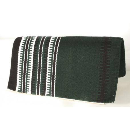 Premium Green Black White Wool Show Blanket