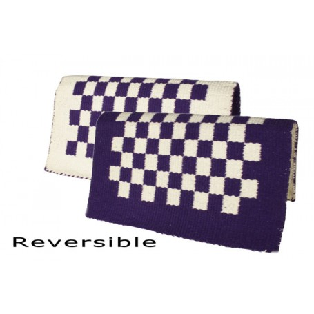 Purple And White Checkered Reversible Show Blanket