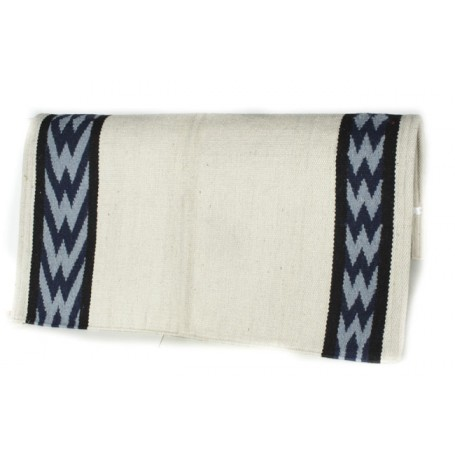 White And Blue Geometric Pattern Show Blanket