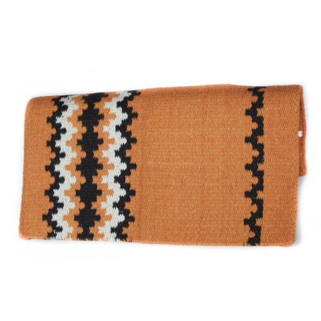 Orange Black And White Patterned Show Blanket