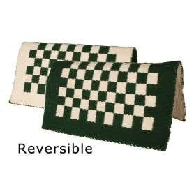 Green And White Checkered Reversible Show Blanket