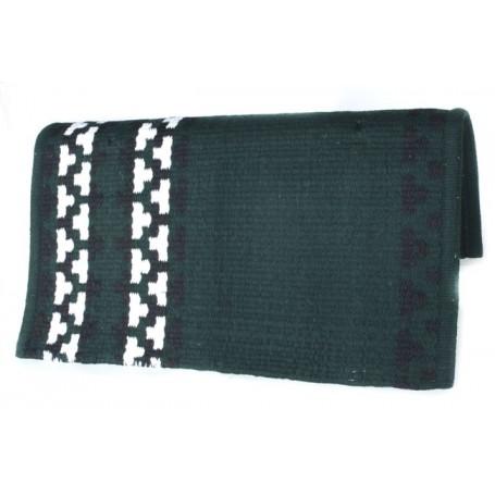 Dark Green And White Pattern Show Blanket