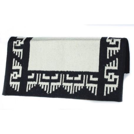 Black And White Aztec Design Saddle Blanket