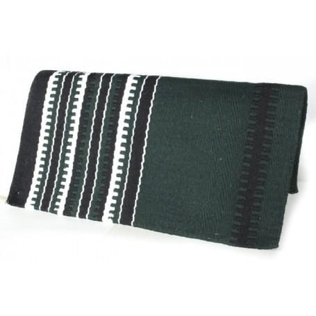 Dark Green And White Stripe Pattern Show Blanket
