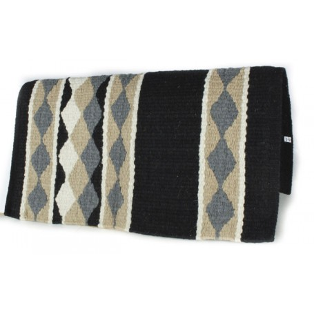 Black With Blue Diamond Pattern Premium Show Blanket