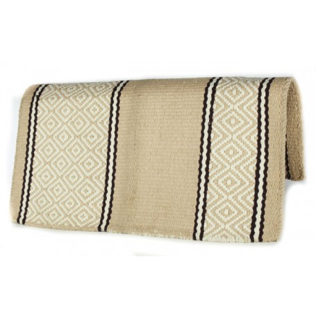 Beige With Black Premium Wool Show Blanket
