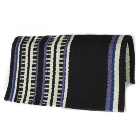 Black Purple And White Line Patterned Premium Show Blanket