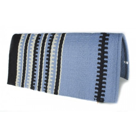 Light Blue With Black Patterned Premium Show Blanket