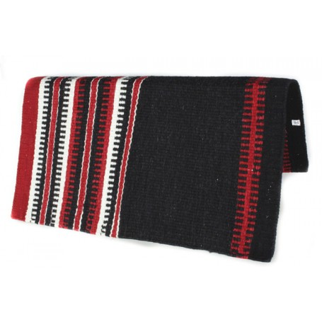 Black With Burgundy and White Patterened Premium Show Blanket