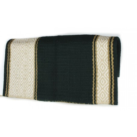 Black Olive And Tan Diamond Patterned Show Blanket