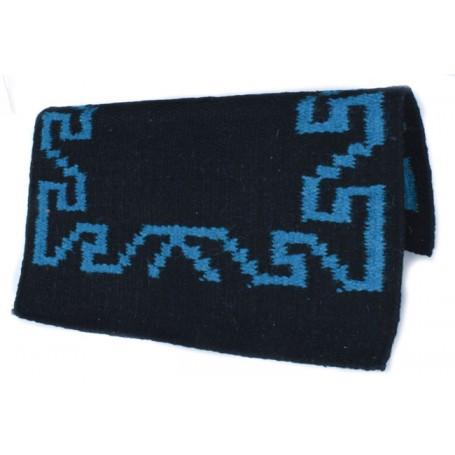 Black With Blue Design Premium Wool Saddle Blanket
