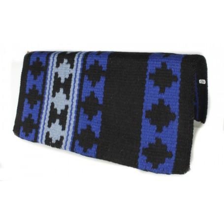 Black And Blue Aztec Design Premium Show Blanket