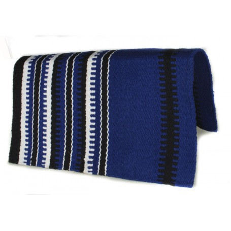 Royal Blue Black And White Design Premium Saddle Blanket