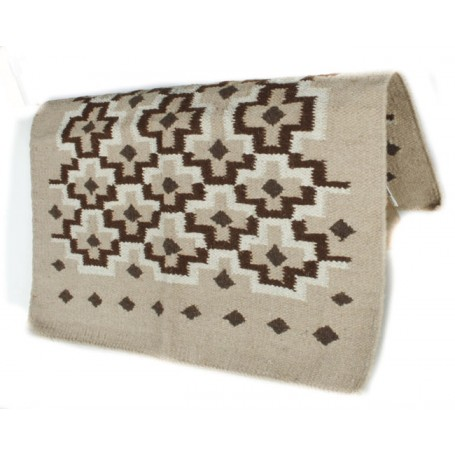 Tan And Brown Patterned Premium Wool Show Blanket