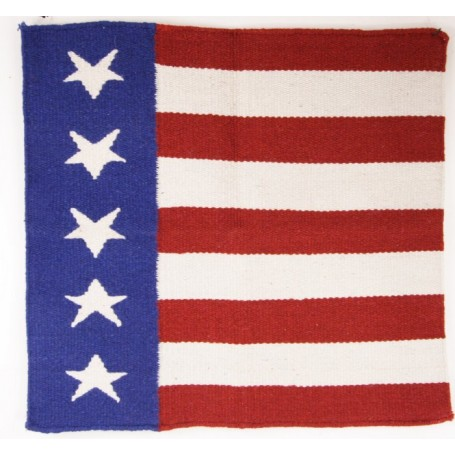 NEW WESTERN US FLAG WOOL SHOW SADDLE BLANKET