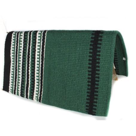 Green White And Black Striped Premium Show Blanket
