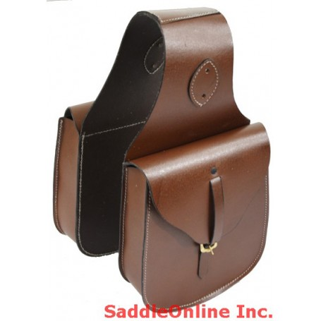 Small Brown Old Time Leather Saddle Bags