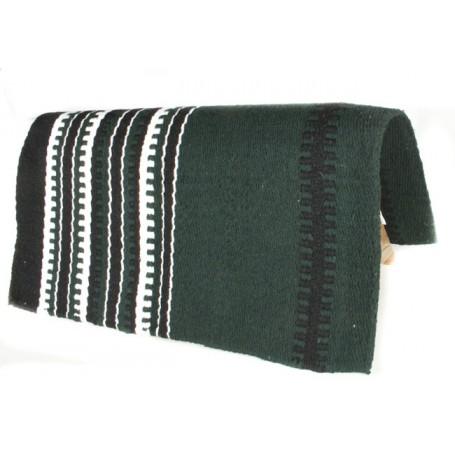 Dark Green With Black And White Stripe Pattern Show Blanket