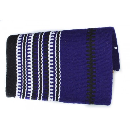 Deep Royal Blue Black And White Premium Show Blanket
