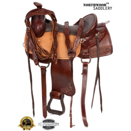 Light Weight Comfortable Western Leather Saddle 16