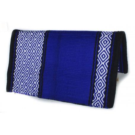 Royal Blue And White Diamond Premium Wool Show Blanket