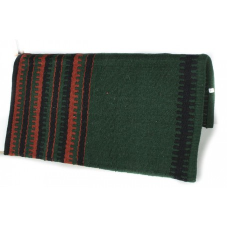 Forest Green And Brick Red Premium Wool Show Blanket