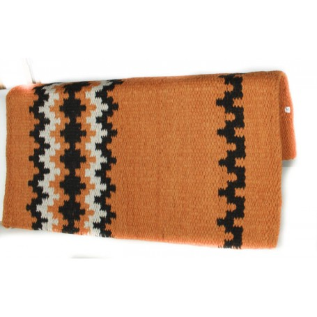 Orange Black And White Premium Wool Show Blanket