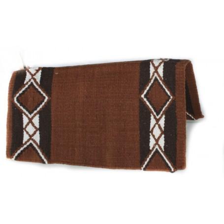 Brown And Black Diamond Pattern Premium Show Blanket
