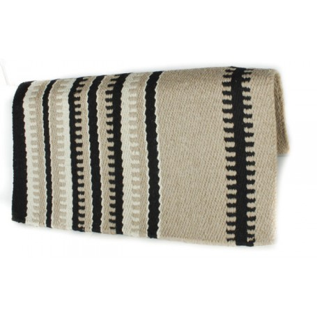 Sand Beige And Black Patterned Premium Show Blanket