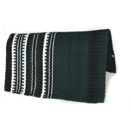 Dark Green Black And White Patterned Premium Show Blanket