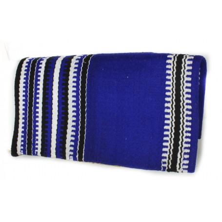 Blue Black And White Patterned Premium Show Blanket